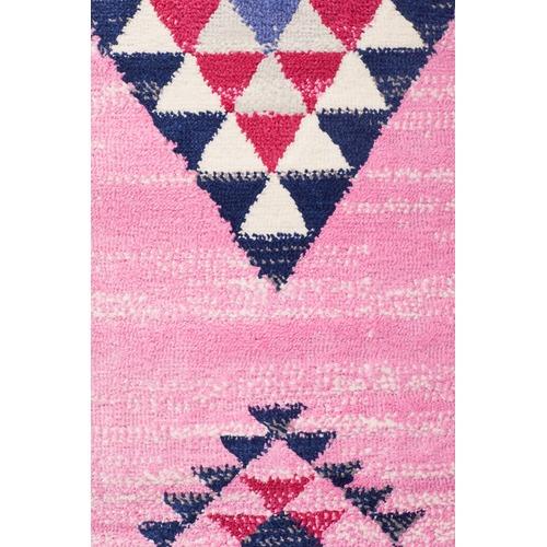 Pink Boho Geometric Rug