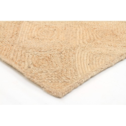 Network Rugs Natural Coastal Hand Braided Flat Woven Jute Rug