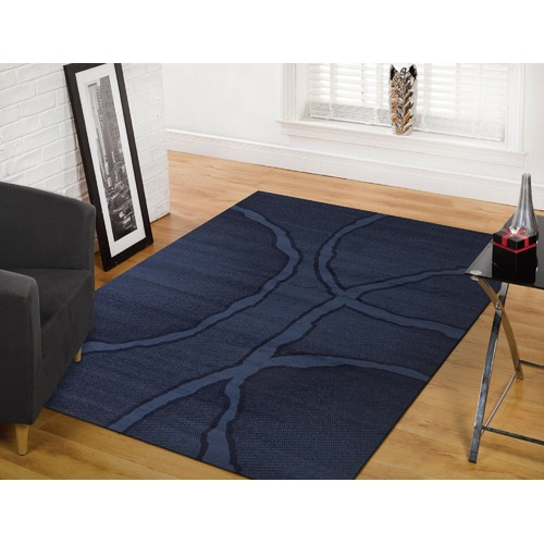 Network Rugs Blue Power Loomed Rug