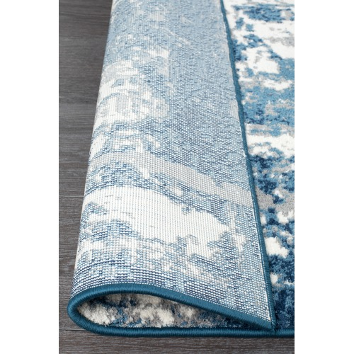 Network Rugs Blue Abstract Wash Power Loomed Rug