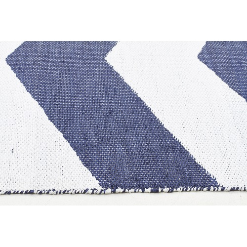 Network Rugs Navy Flat Woven Rug