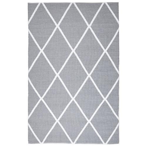 Network Rugs Grey Geometric Flat Woven Rug