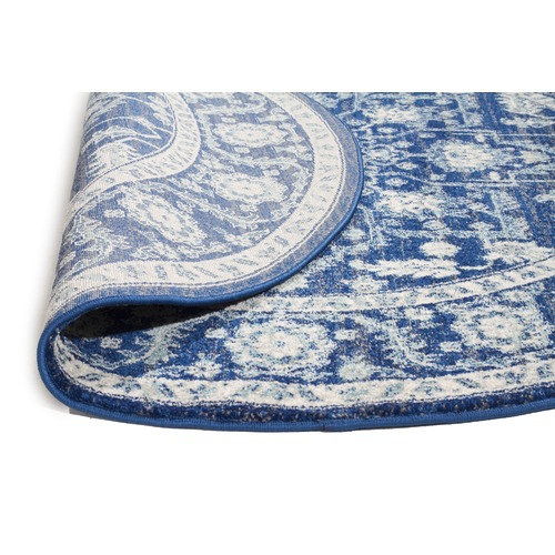 Network Rugs Navy Power Loomed Round Rug