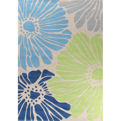 Network Rugs Blue Tropical Hand Tufted Rug