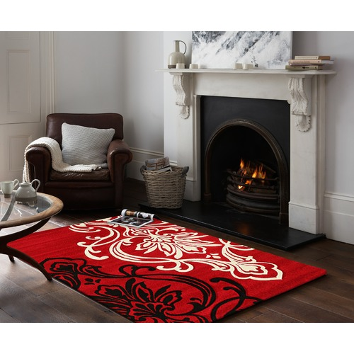 Network Rugs Red Power Loomed Rug