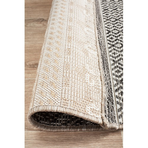 Network Rugs Charcoal Flat Woven Runner