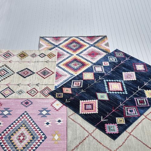 Network Rugs Pink Boho Geometric Rug