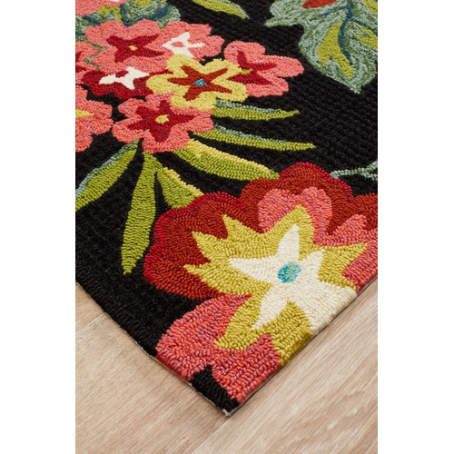 Network Rugs Dori Black & Tropical Hand Tufted Recycled PET Outdoor Rug
