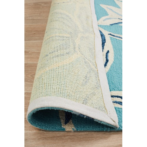 Network Rugs Antoinette Blue & Yellow Hand Tufted Recycled PET Outdoor Rug