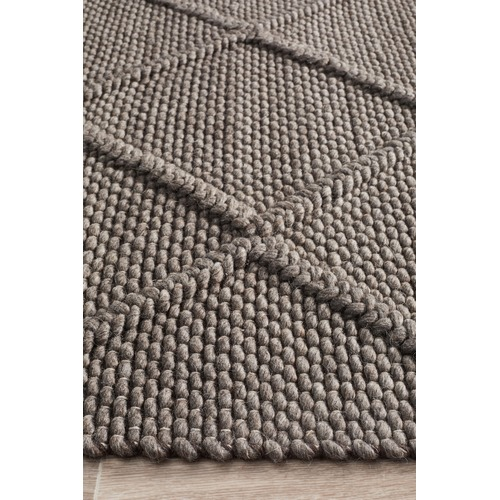 Grey Hand Woven Flatweave Wool Amp Viscose Rug Temple