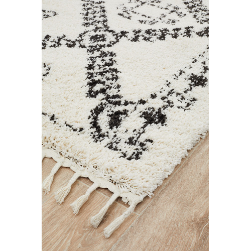 Network Rugs Monochrome Rabia Fringed Tribal-Style Rug