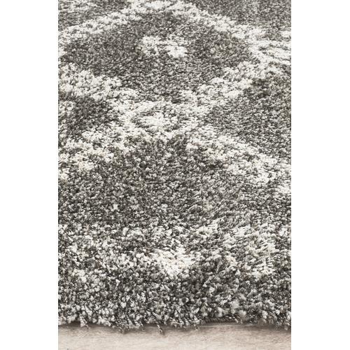 Network Rugs Pebble Grey Rabia Fringed Tribal-Style Rug