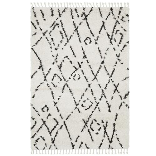 Monochrome Zohra Fringed Rug
