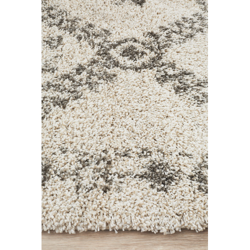 Network Rugs Natural Tan & Brown Rabia Fringed Tribal-Style Rug