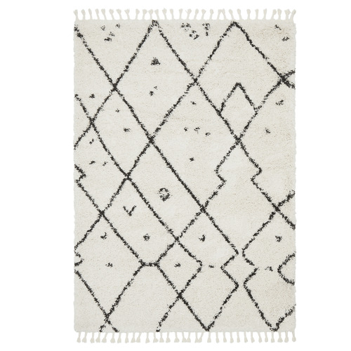 Network Rugs Monochrome Samira Fringed Rug