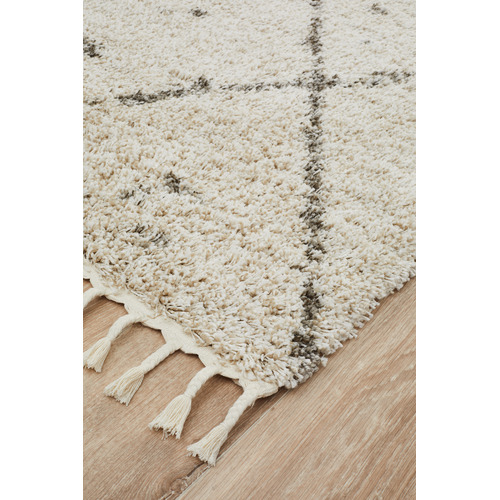 Network Rugs Natural Tan & Brown Samira Fringed Rug
