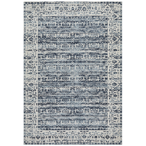 Network Rugs Denim Blue Duchamps Jacquard Cotton Rug