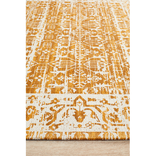 Network Rugs Yellow Duchamps Jacquard Cotton Runner