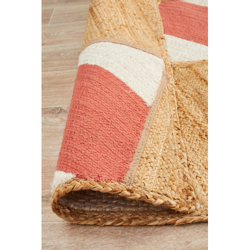 Network Rugs Coral Prism Flat Weave Cotton & Jute Rug