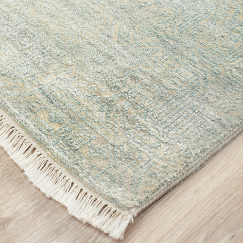 Network Rugs Powder Blue Diamond Vintage Hand-Knotted Wool Rug