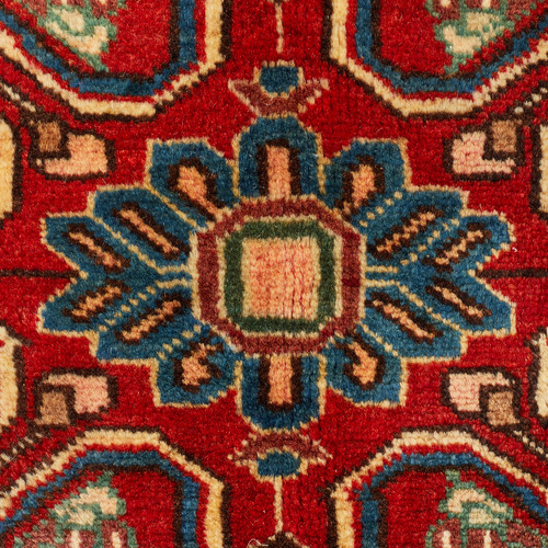 Network Rugs Red & Cream Nahavand Vintage Hand-Knotted Wool Rug
