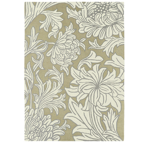 Network Rugs Cream Chrysanthemum Hand-Tufted Wool Rug
