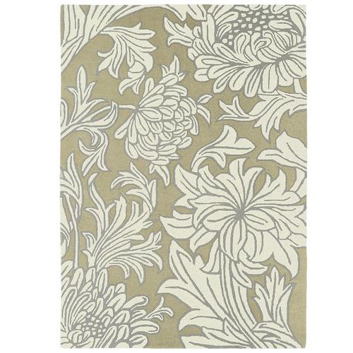 Cream, Ghost & Floral Morris & Co  Chrysanthemum Rug