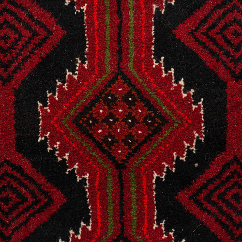 Network Rugs Faded Red Wool Balouchi Rug