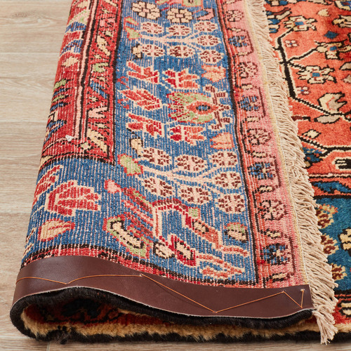 Network Rugs Salmon & Blue Wool Nahavand Rug