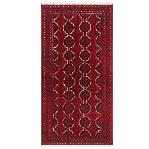 Network Rugs Ruby Hand-Knotted Wool Balouchi Rug