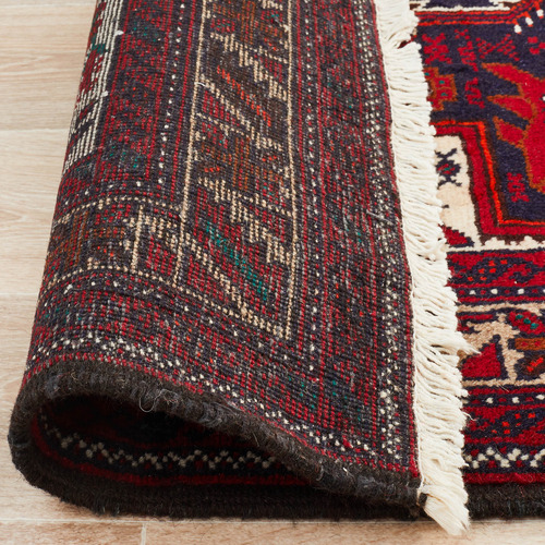 Network Rugs Oriental Hand-Knotted Wool Balouchi Rug