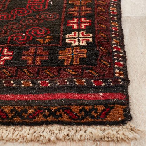 Network Rugs Mahogany Hand-Knotted Wool Balouchi Rug