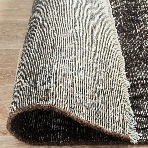 Network Rugs Black Stonewash Wool Persian Rug