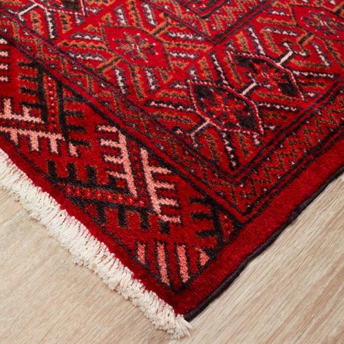 Network Rugs Red Wool Persian Torkaman Rug