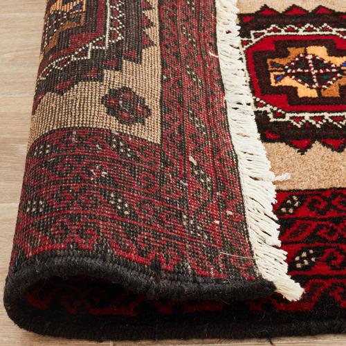 Network Rugs Red & Cream Wool Balouchi Rug