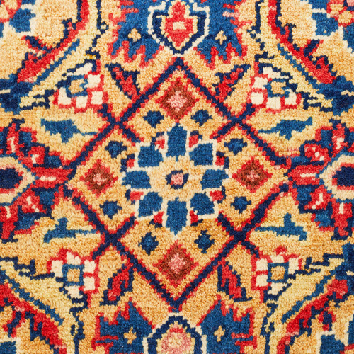 Network Rugs Red & Blue Wool Indian Rug