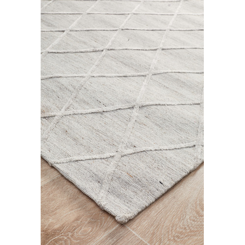 Network Rugs Mullins Jacquard Wool & Viscose Modern Rug