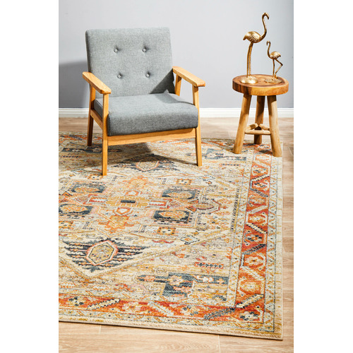 Network Rugs Rust Power-Loomed Transitional  Rug