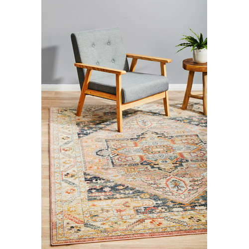 Network Rugs Salmon Power-Loomed Transitional  Rug