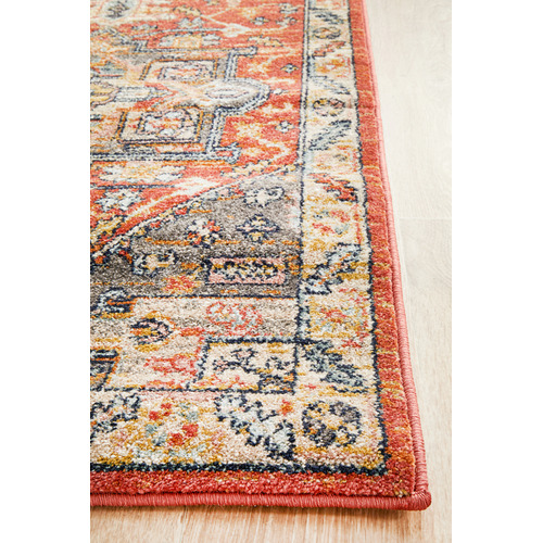 Network Rugs Terracotta Power-Loomed Transitional  Runner