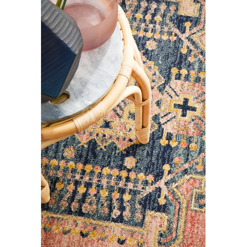Network Rugs Red Power-Loomed Transitional  Round Rug
