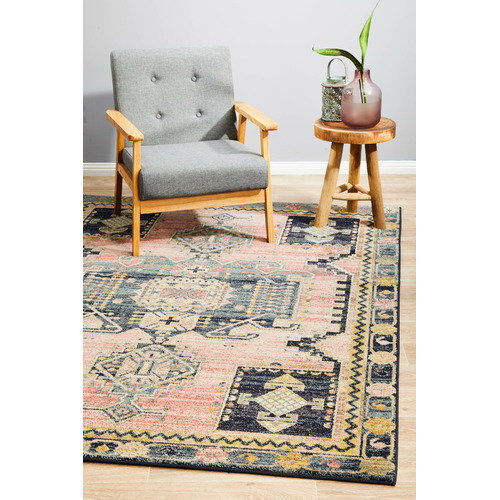 Network Rugs Red Power-Loomed Transitional  Rug