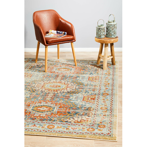 Network Rugs Multi-Coloured Power-Loomed Transitional Rug