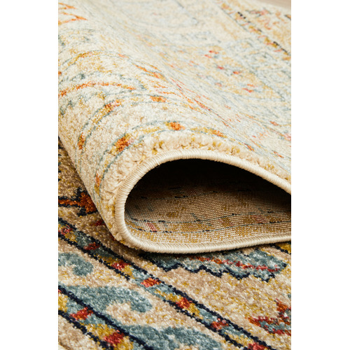 Network Rugs Sky Blue & Beige Power-Loomed Transitional Rug