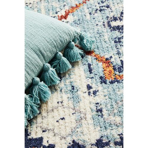 Blue Plush Moroccan Rug