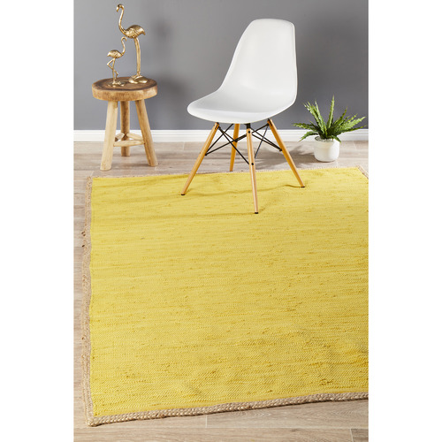 Network Rugs Card Jasmine Hand Braided Yellow Rug