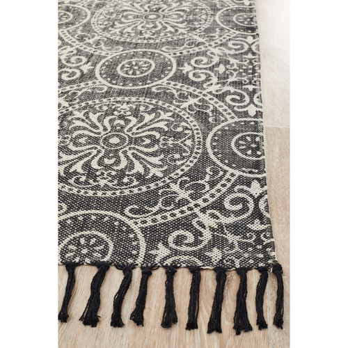 Network Rugs Ruby Hand Loomed Flatweave Pure Cotton Rug