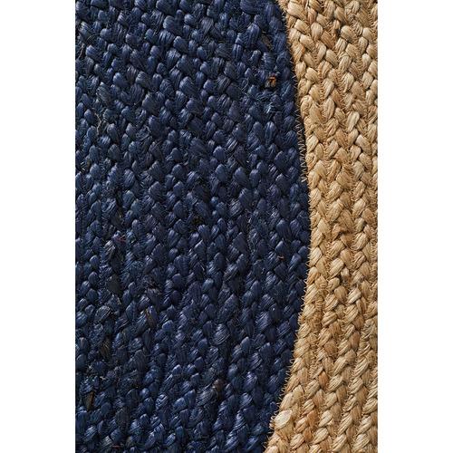 Jasmine Round Navy Rug