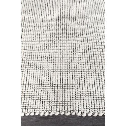 Network Rugs Black & White Felted Wool Scandi Rug