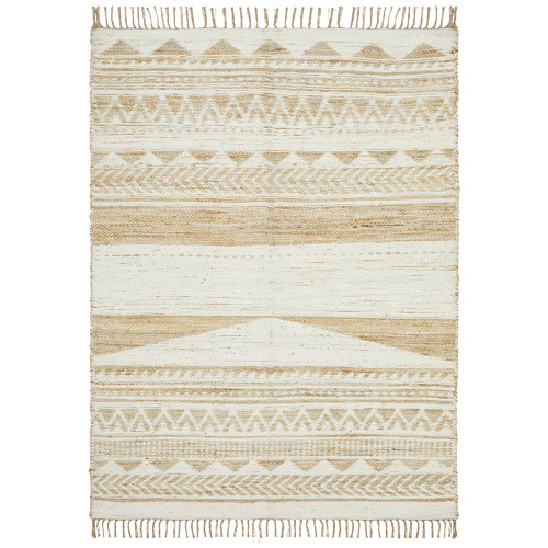 Network Rugs White Michihoaca Flat Weave Jute & Cotton Rug